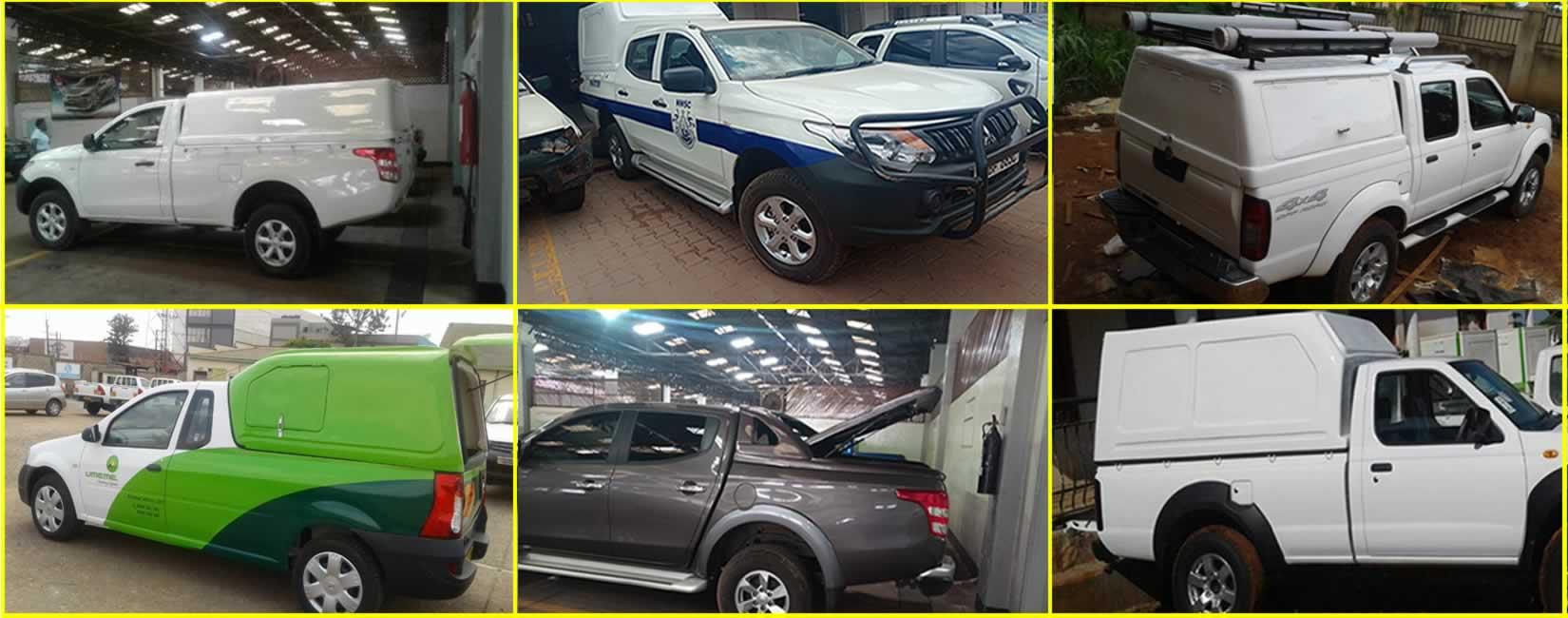 1-vehicle truck canopy fribreglass uganda-uel