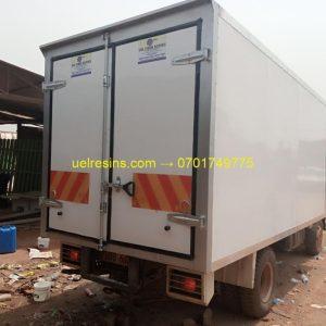 Fibreglass (GRP) Refrigerated and Insulated Fibreglass Truck Body Building in Kampala Uganda