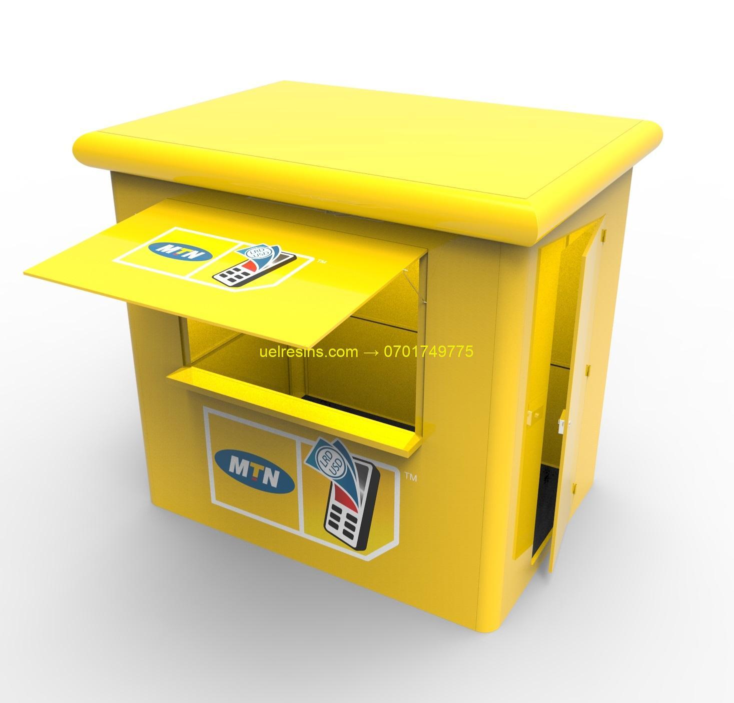 Fibreglass Kiosk Design and Manufacture in Rwanda