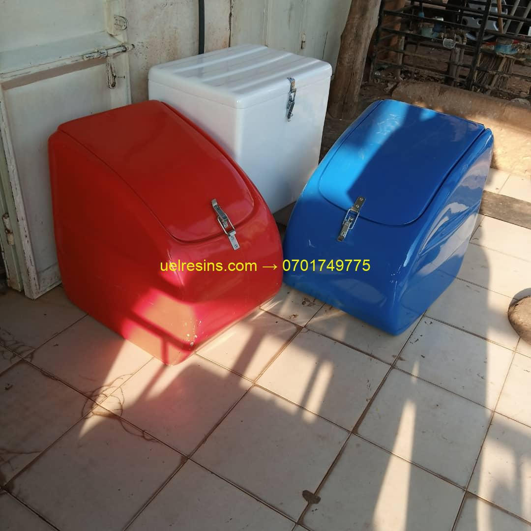 Fibreglass Motor Cycle Delivery Boxes in Rwanda