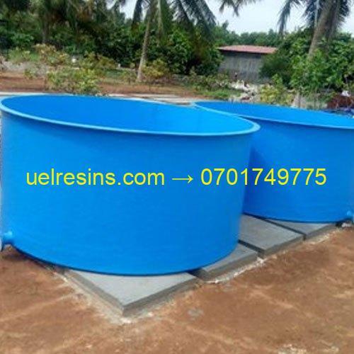 Fiberglass Fish Farming Tanks and Ponds Design in Uganda